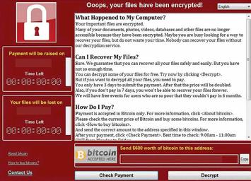 El virus Wannacry afecta a 70 paises